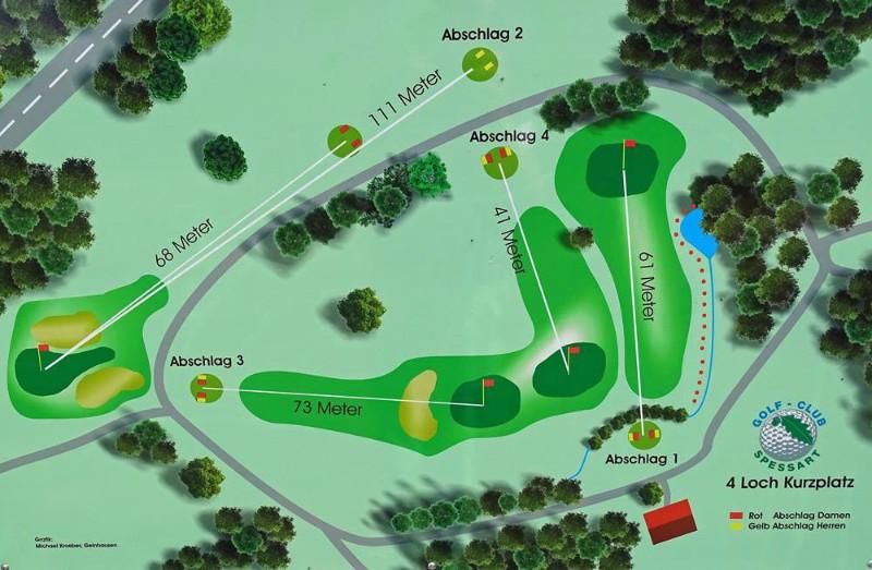 Golf-Kurzlochplatz